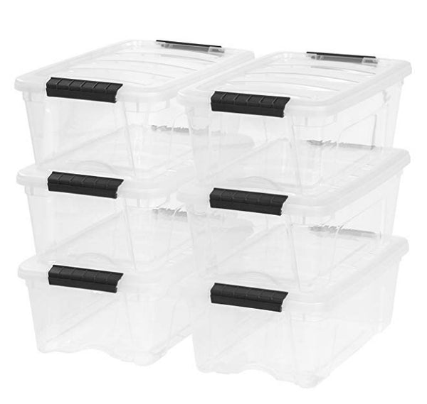 12 Quart Stack & Pull Box, Clear, 6 Stack and Pull Via Amazon SALE $22.39 Shipped! (Reg $37.87)