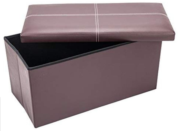 30″ Storage Ottoman Bench Folding with Faux Leather Via Amazon ONLY $20.00 – $30.00 Shipped! (Reg $99.99 – $149.99)