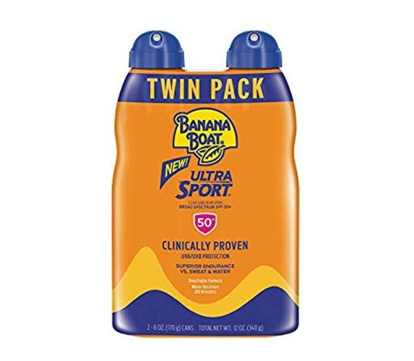Twin Pack Banana Boat Sunscreen Sport Performance, Broad Spectrum Sunscreen Spray Via Amazon ONLY $7.11 Shipped! (Reg $18.99)