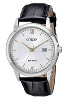 Citizen Eco-Drive Silver Dial Black Leather Mens Watch Via Amazon ONLY $68.98 Shipped! (Reg $175)