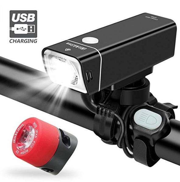 Rechargeable Bike Headlight w/Tail Light Set Via Amazon ONLY $8.40 Shipped! (Reg $27.99)