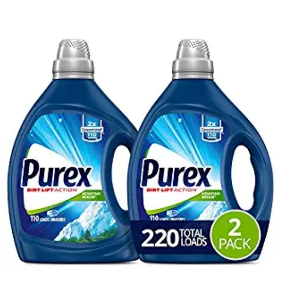 Purex Liquid Laundry Detergent, Mountain Breeze, 2X Concentrated, 2 Count Via Amazon ONLY $14.24 Shipped! (Reg $19)