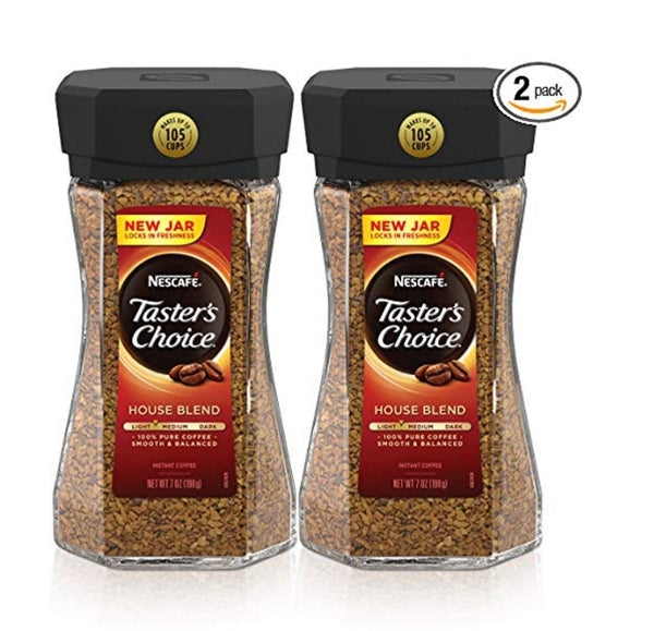 Nescafe Taster's Choice House Blend Instant Coffee, 7 Ounce (Pack of 2) Via Amazon