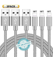 Charging Cables USB Charger Cord 3 Pack Via Amazon