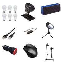 Save Up To 45% On Select Amazon Brand Electronics Bulbs, Wires, Speakers, Ear Phones And Accessories