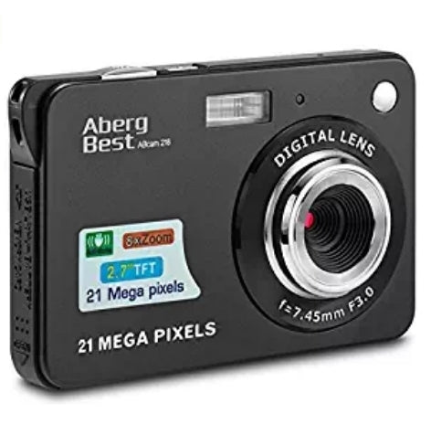 "AbergBest 21 Mega Pixels 2.7"" LCD Rechargeable HD Digital Camera Via Amazon"