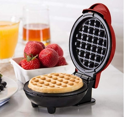 The Mini Waffle Maker Machine Via Amazon