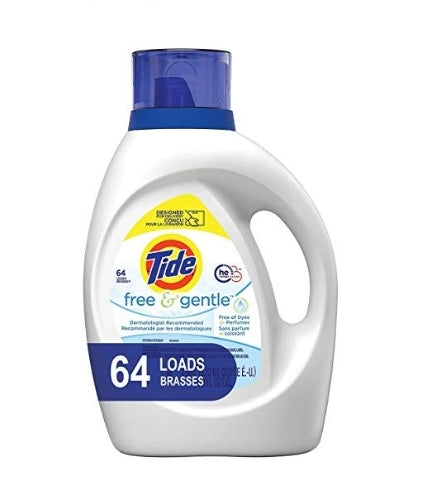 64 Loads Tide Free and Gentle HE Laundry Detergent Liquid Via Amazon