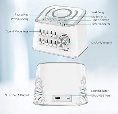 Homgeek White Noise Sounds Machine Via Amazon