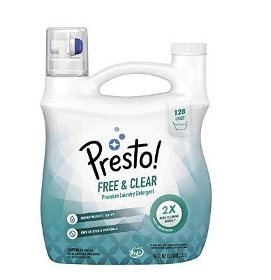 Presto! Concentrated Liquid Laundry Detergent Via Amazon