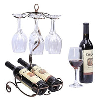 Glasses and Wine Bottles Holder Via Amazon
