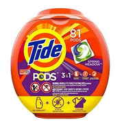 Tide PODS 3 in 1 HE Turbo Laundry Detergent Pacs, Spring Meadow Scent Via Amazon