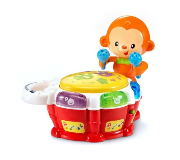 VTech Baby Beats Monkey Drum Responds When Babies Tap the Drum Via Walmart