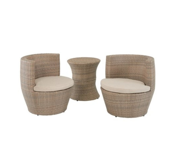 Mainstays Westmont Isle 3-Piece Outdoor Wicker Bistro Set Via Walmart