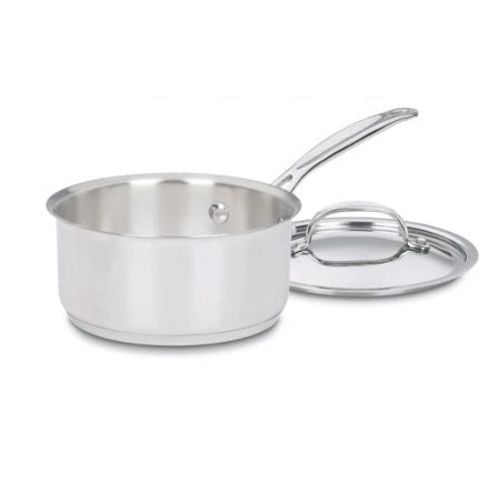 Cuisinart 719-14 Chef's Classic Stainless 1-Quart Saucepan with Cover Via Amazon