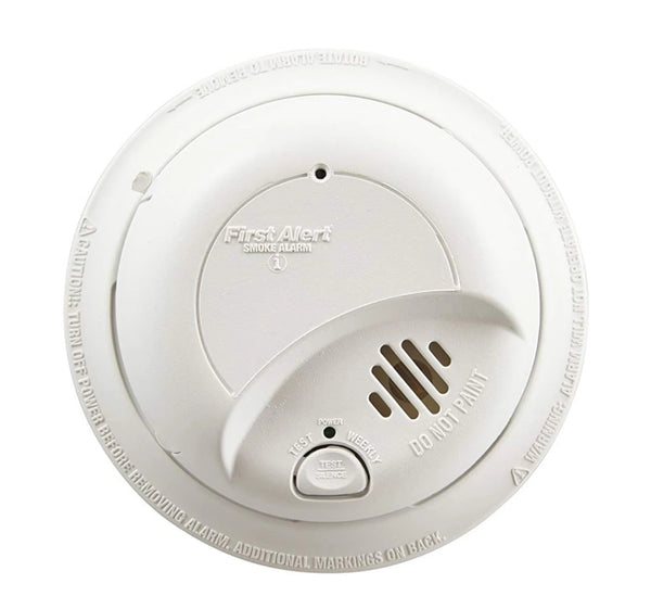First Alert Smoke Detector Alarm | Hardwired with Backup Battery Via Amazon