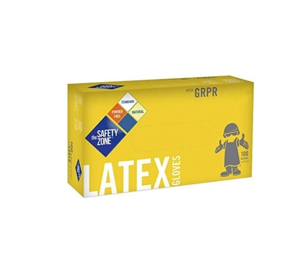Latex Rubber Gloves, Medium (Box of 100) Via Amazon