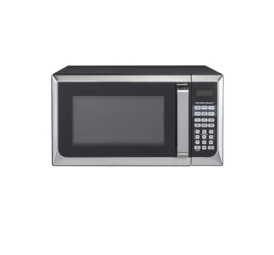 Hamilton Beach 0.9 Cu. Ft. Stainless Steel Countertop Microwave Oven Via Walmart