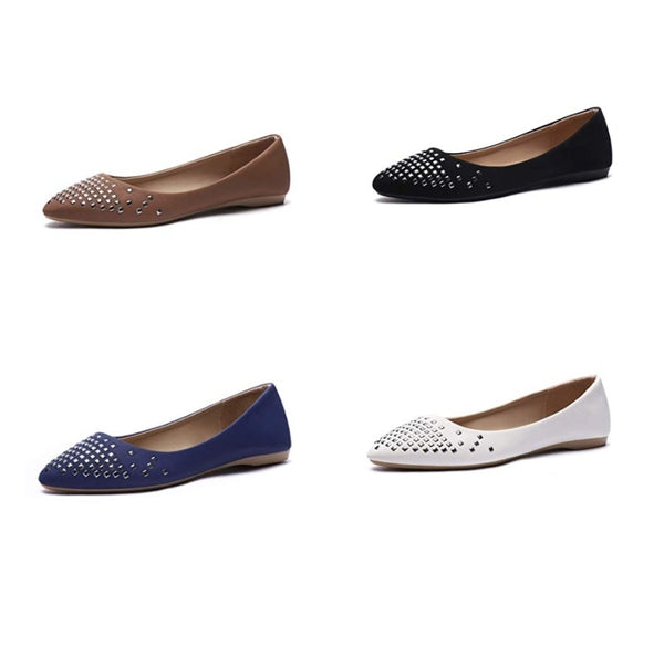 Women's Flats Pointed Toe Glitter Comfort Slip On Loafers Via Amazon