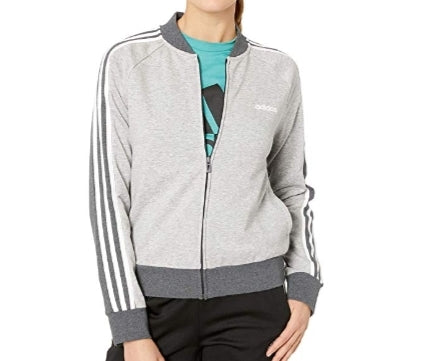 adidas Women's Essentials Color Block Full Zip Bomber Jacket Via Amazon