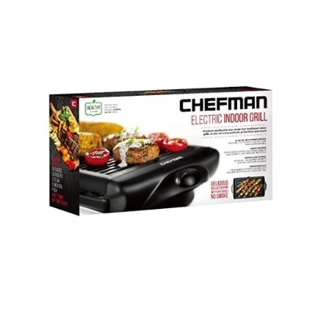 Chefman Electric Smokeless Indoor w/Non-Stick Cooking Surface Via Amazon