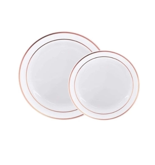 60 Pack Disposable Plastic Plates Via Amazon