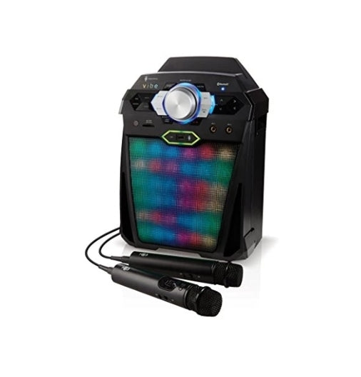Singing Machine Digital Karaoke System with Two Microphones, Via Amazon