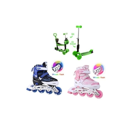 Skates Roller Shoes, Kick Scooter for $19.34 - $31.50 Via Amazon