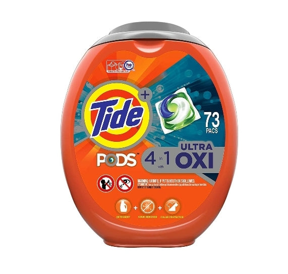 Tide Pods Ultra Oxi Liquid Laundry Detergent Pacs, 73 Count, Via Amazon