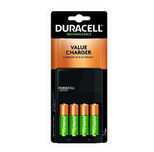 Duracell - Ion Speed 1000 Battery Charger with 4 AA Batteries - charger for AA and AAA batteries Via Amazon