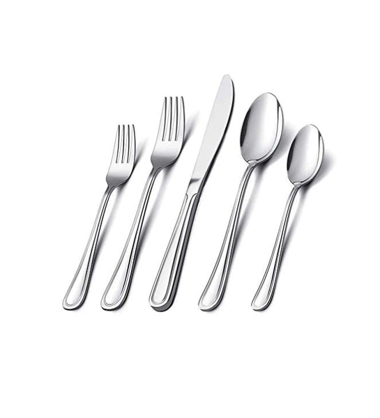 40-Pieces Elegant Life Stainless Steel Silverware Flatware Cutlery Set Via Amazon