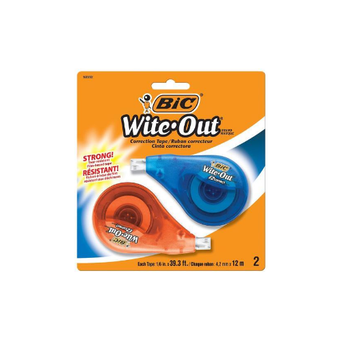 2-Count BIC Wite-Out EZ Correct Correction Tape Via Amazon