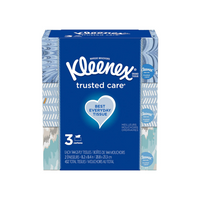 3 Boxes Kleenex Trusted Care Facial Tissues Via Amazon