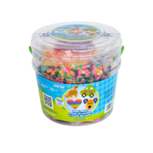 Perler Fuse Activity Bucket for Arts and Crafts, 8500 Beads Via Amazon