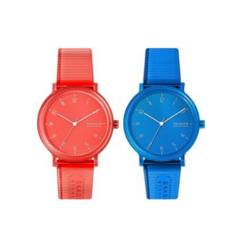 Skagen Aaren Colored Silicone Quartz Minimalistic 41mm Watch Via Amazon