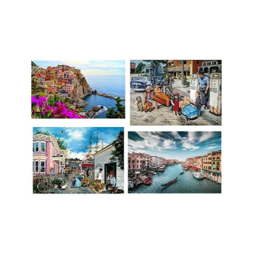 500-piece and 1,000 piece puzzles Via Amazon