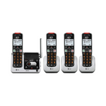 AT&T 4-Handset Cordless Phone for Home with Answering Machine Via Amazon
