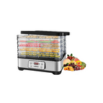 Food Dehydrators Machine with Digital Time & Temperature Control Via Amazon