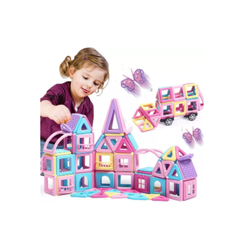 90 Pcs 3D Castle Magnetic Blocks Toys Magnet Tiles Via Amazon
