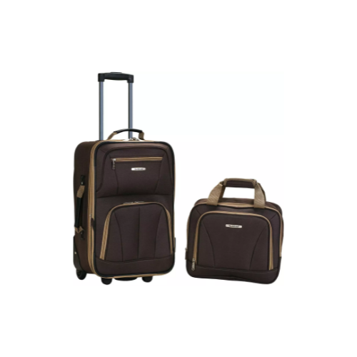 2-Piece Rockland Fashion Softside Upright Luggage Set Via Amazon