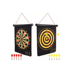 Double Sided Magnetic Dart Board Games Set with 10 Darts Via Amazon