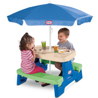 Little Tikes Easy Store Jr. Play Table with Umbrella Via Walmart