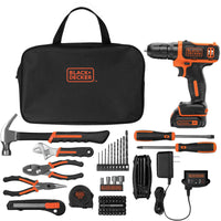 BLACK+DECKER 12-Volt MAX* Lithium-Ion Cordless Drill With 64-Piece Project Kit Via Walmart