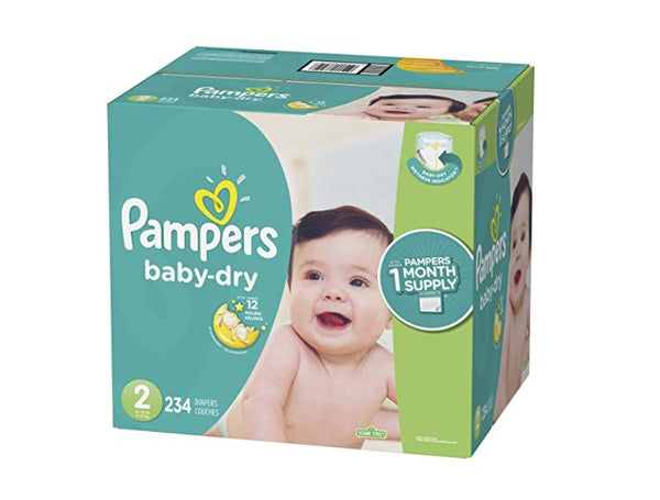 TARGTED: Pampers Baby Dry Disposable Baby Diapers, ONE MONTH SUPPLY Via Amazon ONLY $23.34 Shipped! (Reg $46.68)