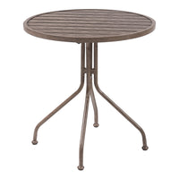Better Homes & Gardens Camrose Farmhouse Round Slat-Top Table Via Walmart