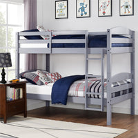 Better Homes & Gardens WM3921G-DC Leighton Twin Over Twin Wood Bunk Bed (Gray) Via Walmart