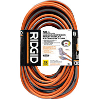 Ridgid 50' 12/3 Tri-Tap Outdoor Extension Cord w/ Lighted Outlet Via Home Depot SALE $24.88 (Reg $74)