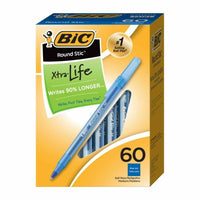 60-Ct BIC Round Stic Medium Point Ballpoint Pens (Blue) Via Ebay SALE $1.00 Shipped! (Reg $7.00)