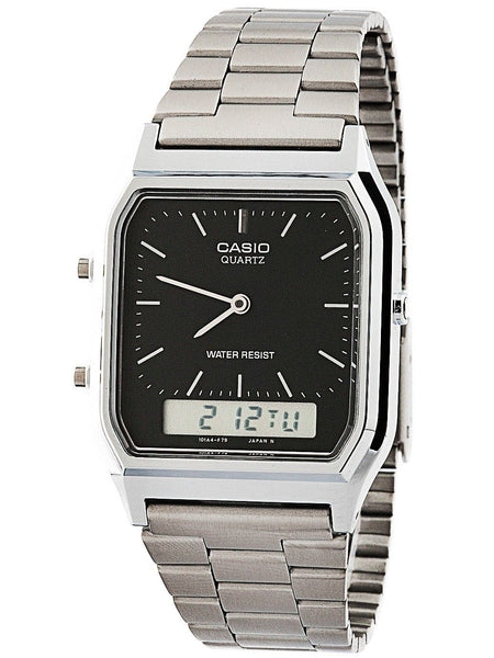 Casio AQ230A-1D Mens Stainless Steel Analog Digital Watch Via Ebay SALE $24.99 Shipped! (Reg $39.99)