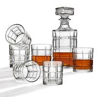 7-Piece Clear Crystal Decanter and Cocktail Glass Set  Via Home Depot SALE $14.99 (Reg $40)
